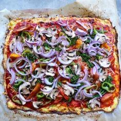 Blomkål som pizzabund! :D