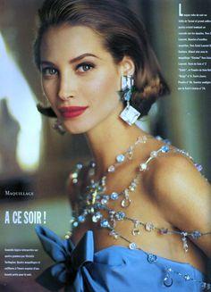 Christy Turlington | September 1991 Christy_Turlington #Arthur_Elgort #Vogue #1991
