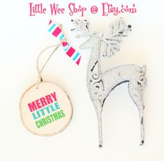 What a cute hostess gift!  So happy.  From www.etsy.com/shop/LittleWeeShop Modern Christmas Ornaments, Merry Little Christmas, Hostess Gifts, Holiday Decor, Happy, Shop, Etsy, Happy Merry Christmas