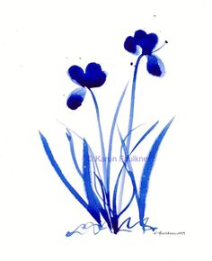 Hey, I found this really awesome Etsy listing at https://www.etsy.com/listing/178229399/watercolor-print-of-cobalt-blue-flowers