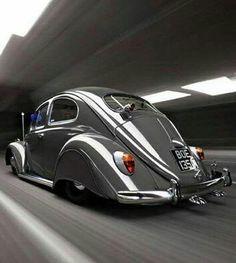 VW-103 Vintage VDub Beetle Bug Volkswagen Swag Car Window Decal Bumper Sticker