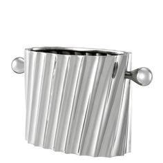 Eichholtz Napa Wine Cooler - Nickel Finish - Silver double wine cooler
