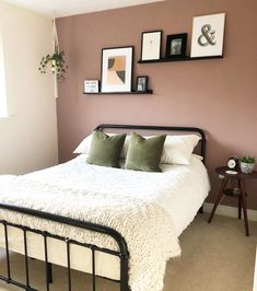 And another room bites the dust! Took me a while to talk my teenager around to changing her bedroom but she loves it now! Just a light to… is part of Pink bedroom walls - Pink Bedroom Walls, Pink Bedroom Decor, Bedroom Wall Colors, Bedroom Green, Room Ideas Bedroom, Home Bedroom, Modern Bedroom, Contemporary Bedroom, Bed Room