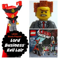 ego Movie Lord Business' Evil Lair you can be evil or good. Which will it be? #Lego #LegoMovie #Toys