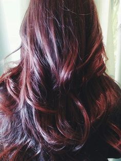 Wine to copper balayage done by Kim Horne. #perfectlyimperfecthair