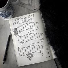 January #moodtracker in my #bulletjournal by #cardigansandchamomile