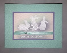 Stampin' Up Easter cards | ... card body. The flower comes from Stampin' Up!'s Pop-Up Posies kit in