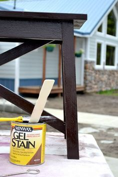 How To Paint Furniture | Espresso Stain | Ana White   Homemaker