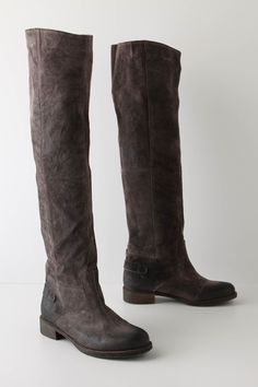 towering grey suede boots - love.