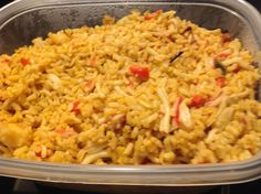 Rice Make and share this Crab Rice recipe from Genius Kitchen.Make and share this Crab Rice recipe from Genius Kitchen. Seafood Rice Recipe, Crab Meat Recipes, Seafood Dishes, Shrimp Recipes, Rice Recipes, Cooking Recipes, Healthy Recipes, Crab Rice, Shrimp And Rice
