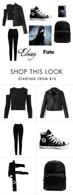 """""""Ebony #8"""" by christiana-samuel on Polyvore featuring EAST, Converse and Madden Girl"""