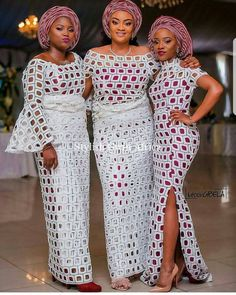 Rock The Cold Shoulder Outfit: Aso-Ebi Style African Lace Styles, African Lace Dresses, African Fashion Dresses, African Attire, African Wear, African Women, African Beauty, Africa Dress, Latest Aso Ebi Styles