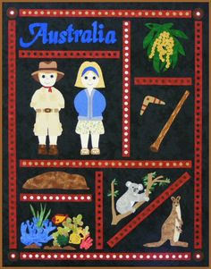 Postcards from...Australia Quilt.  Do this for places traveled.