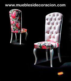 Sillas Isabelinas de diseño. Consulte todos los modelos http://www.mueblesidecoracion.com/57-sillas-isabelinas?p=3