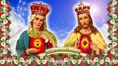 ¡SAGRADOS CORAZONES EN VOSOTROS CONFÍO! DE LA MANO DE JESÚS Y MARÍA AL CIELO CAMINA SEGURA EL ALMA MÍA.
