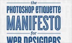 The Photoshop Etiquette Manifesto for Web Designers