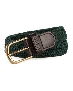 Elastic woven belt - Dark Green | Belts | Ted Baker UK