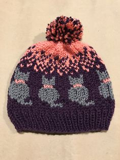 Knit a Purrrfect Cat-tastic Hat … FREE Pattern by Christina Ross #cat #knitting