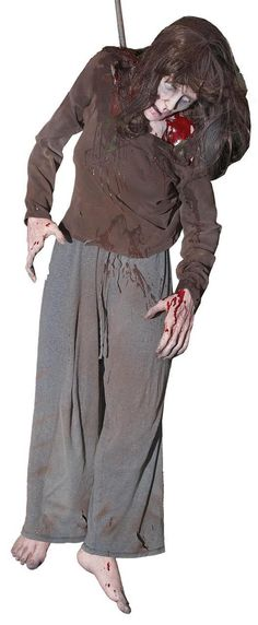 Lifesize Shaking Exorcist Possessed Girl Animated Halloween Haunted - animated halloween decorations