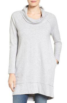 Caslon® Cowl Neck Tunic Sweatshirt (Regular & Petite) available at #Nordstrom