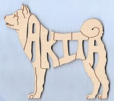 Akita Dog laser cut and engraved wood magnet Free Shipping in the USA only