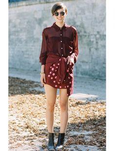 Dress shirt as a skirt!