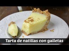 Tarta de natillas con galleta | Cuuking! Recetas de cocina