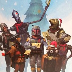 Merry Christmas, from Boba and the Bounty Hunters.