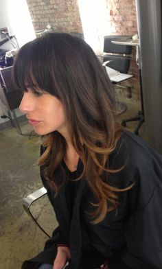 Soft ombre for a dark brunette a. Post wedding hair? I need a change