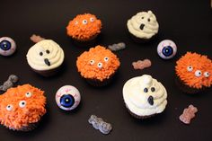 Cupcakes monstrueux pour Halloween #food  #halloween