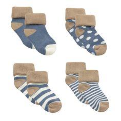 Amariver Cute Lovely Polka Dot Baby Walker Socks for Baby Girl Toddler 12-36 Months Thicker Socks 6 Pairs Baby Girl Socks Toddler Anti Skid Baby Boy Socks