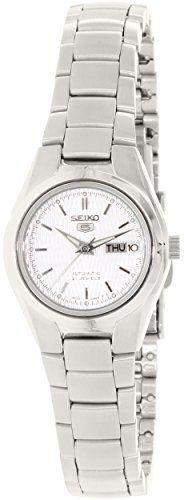 Seiko Women's SYMC07 Seiko 5 Automatic Silver Dial Stainless Steel Watch - http://buyonlinemakeup.com/seiko-watches/seiko-womens-symc07-seiko-5-automatic-silver-dial