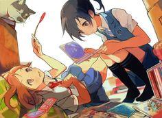 Tags: Tanu, Official Art, Tari Tari, Sakai Wakana, Miyamoto Konatsu