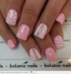Baby pink and white! With baby pink diamonds on the ring finger!! I'm in love with these