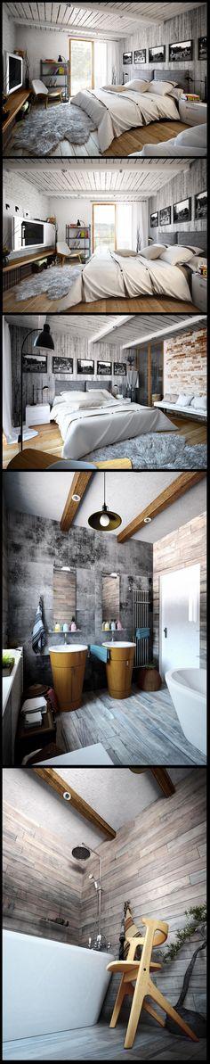 Дизайн маленьких интерьеров в стиле лофт: 123 оригинальные идеи