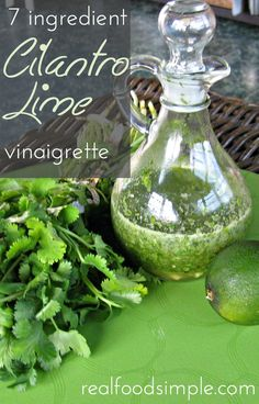 7 ingredient cilantro lime vinaigrette | realfoodsimple.com