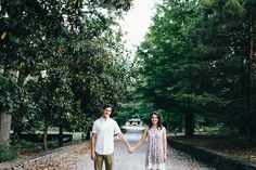 Engagement Photos at the Knoxville Botanical Gardens | Erin Morrison Photography www.erinmorrisonphotography.com