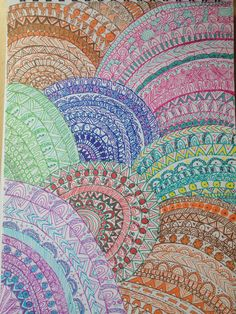 #doodle#colours#drawing#at school#summer#circles#lines