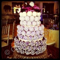 More decorative cake ball wedding cake