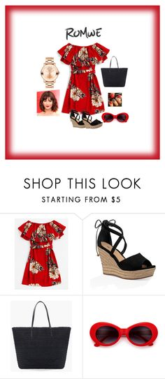"""""""#RED FLORAL"""" by lgeorgiou ❤ liked on Polyvore featuring UGG, Chico's and Movado"""