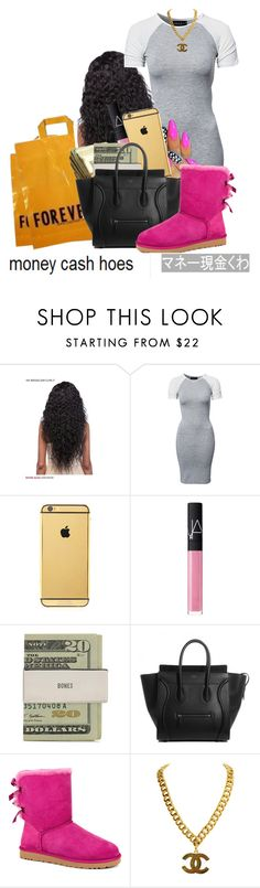 """""""SEPTEMBER 29th (My Birthday)"""" by foreign-couture ❤ liked on Polyvore featuring Forever 21, Club L, Goldgenie, NARS Cosmetics, Jack Spade and UGG Australia"""