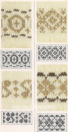 Всем, кто вяжет, дарю старые идеи для новых работ Fair Isle Knitting Patterns, Knitting Charts, Knitting Designs, Knitting Stitches, Knit Patterns, Stitch Patterns, Sock Knitting, Knitting Tutorials, Free Knitting