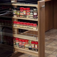 pull out spice cupboard | Accessible-Microwave Spice-Rack-Roll-out Open-Under-Sink Dishwasher ...