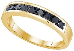 Mens Diamond Ring 0.51CT-DIA Wedding BAND 10KT Yellow Gold- Special Price: $176.00