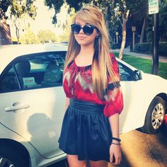 Love The Blouse With The Skirt. <3