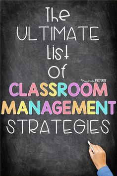 The ultimate list of classroom management strategies for the primary classroom directly from teachers in the classroom. Their ideas are organized into verbal and non-verbal strategies, parent communication tips, ideas for rewards and prizes, games, brain breaks, and visual classroom management strategies. #classroommanagement #timemanagement #classroomorganization #brainbreaks #classroomideas