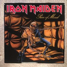 IRON MAIDEN Piece Of Mind Coaster Record Cover Ceramic Tile