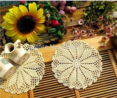 Cheap cotton door mat, Buy Quality cotton bonnet directly from China cotton bathrobes for women Suppliers: 20 Pcs/lot Beige Color 100% Cotton Handmade Crochet Doilies Shabby Chic Coasters Cup Mat Placemat Novelty Households Cra