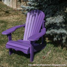 Excellent Gardening Ideas On Your Utilized Espresso Grounds My Fav, Purple Adirondack Chair. Purple Home, Pink Purple, Lilac, Purple Chair, Purple Furniture, All Things Purple, Purple Stuff, Color Violeta, Purple Garden