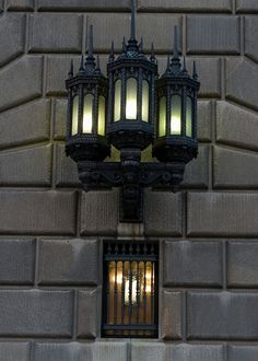 Gothic lamp on theDepartment of Commerce building,  Washington, DC